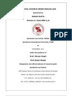 Judicial divorce under muslim law