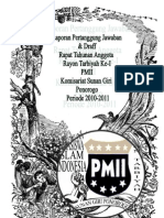 Cover Lpj Rayon Tariyah Pmii Komisariat Sunan Giri Ponorogo
