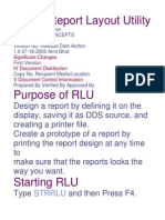 RLU Report Layout Utility