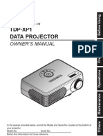 Toshiba TDP-XP1 Data Projector Manual