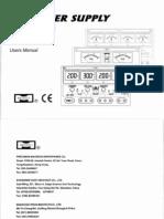 Mastech Power Supply Manual