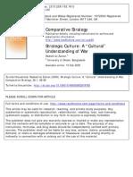 "Uz Zaman, Rashed - Strategic Culture - A ""Cultural"" Understanding of War"