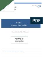 Nestle Project Report Internship IIMI 2009