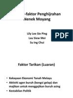 Faktor-Faktor Penghijrahan Nenek Moyang