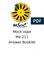 Mock Ospe (10 q Answer) Me211