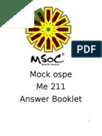 Mock Ospe (10 q Answer) Me211