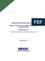 Relatório Trimestral sobre o Mercado de Trabalho Formal do Recife_Outubro 2011