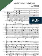 Partitura flauta y percusion de la película La mujer de rojo