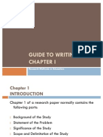 A Guide to Writing Chapter I