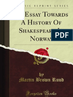 An Essay Towards a History of Shakespeare in Norway - 9781440096518