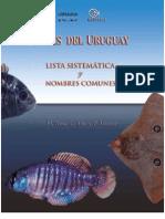 Peces Del Uruguay - Lista Sistemtica y Nombres Comunes