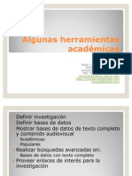 Algunas herramientas académicas
