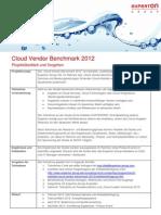 Experton Cloud Vendor Benchmark 2012 Vorgehen