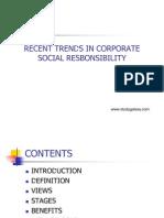Recent Trends in Corporate Social Responsibilty