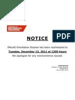 IMechE Reschedule Notice