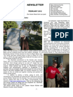 2012 February Newsletter, Ripon Historical Society