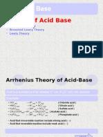 New Acids & Bases
