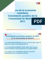 Presentación Balance Económico Comunidad de Madrid 2011