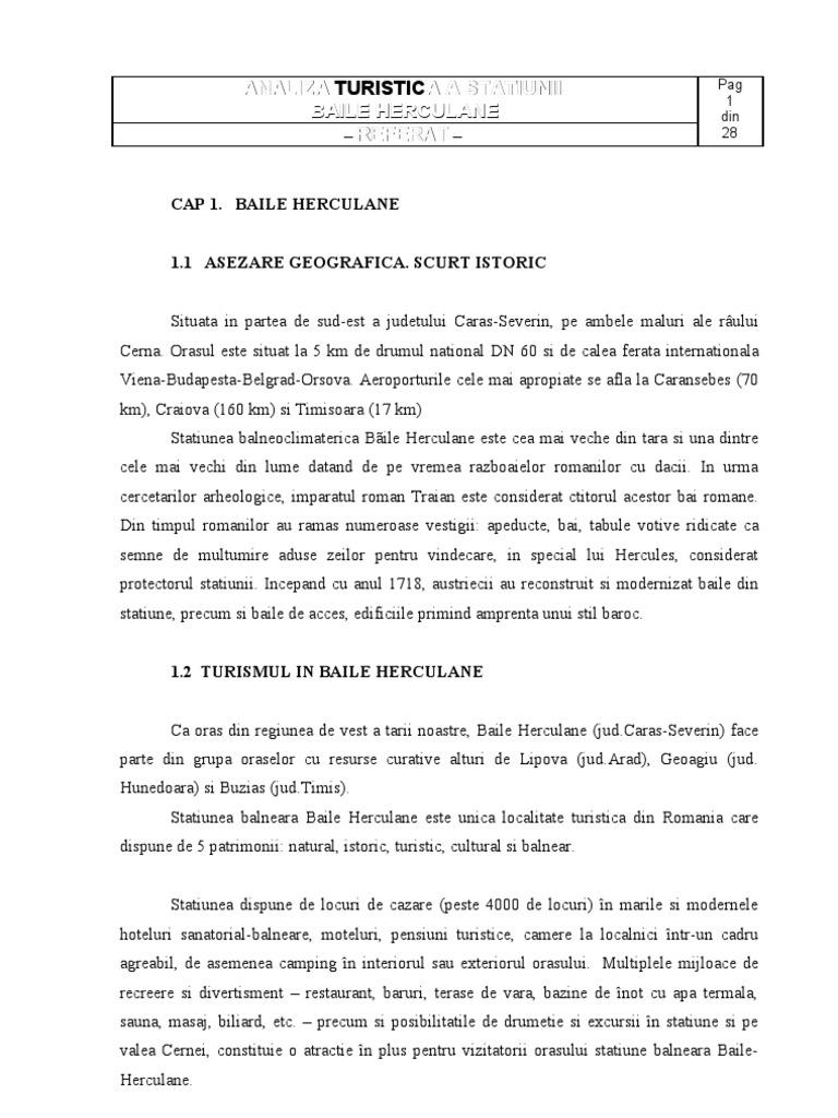 36661127 Analiza Turistica a Statiunii Baile Herculane