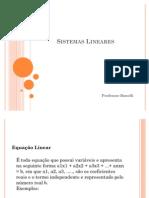 Sistemas lineares - Sistemas de equações