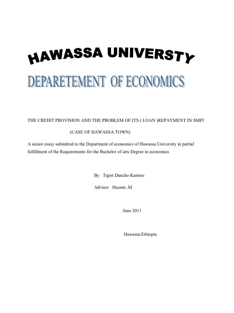 Economics | Microfinance | Informal Sector
