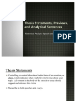 Thesis, Preview, And_Analytical Sentences