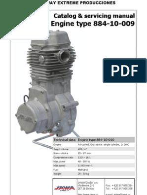 Des Motor JAWA 884   Cylinder (Engine)   Engines