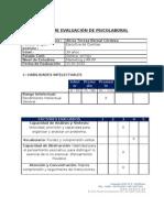 Informe psicolaboral