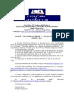 Chamada de trabalhos - Theodor Adorno e o estudo da poesia brasileira - Revista Literatura e Autoritarismo - até 20-02-2012