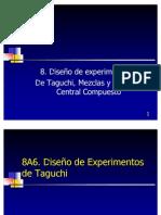 diseño experimentos taguchi