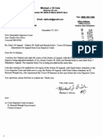 Kalil v Dummer Zba Notice of Appeal 27 Dec 2011 & Attached Trial Court Orders, Nh Supreme Court #2011-900
