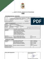 Avance de Programa de ALCOLEA 2012