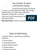 Fundamental of Advertising and Decision Making
