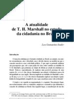 A Atualidade de T.H. Marshall No Estudo Da Cidadania No Brasil