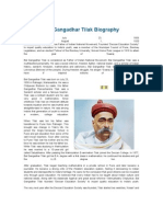 Bal Gangadhar Tilak Biography