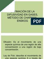Estimación de la difusividad Chapman-Enskog