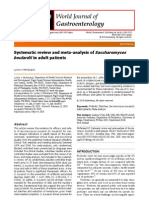 B1 Systematic Review and Meta Analysis of Saccharomyces Boulardii in Adult Patients