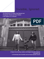 Experience of LGBT Children and Their Parents in the Nation's Schools  (K-12)