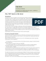 Fulltext Search en SQL Server