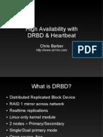 High Availability With Drbd Heartbeat