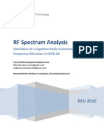 Radio Frequncy Spectrum Analysis via Matlab