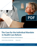 The Case for the Individual Mandate in Health Care Reform