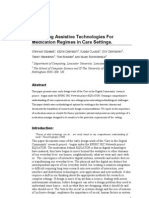 Designing Assistive Technologies for Medication Regimes in Care Settings