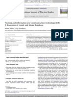 While & Dewsbury (2011 Online) Nursing & ICT-A Discussion of Trends & Future Directions