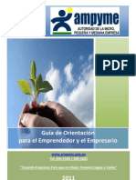 Guia de Orientacion Para Emprendedores y Empresarios