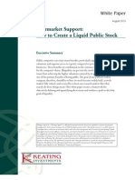 Aftermarket Support - How to Create a Liquid Public Stock