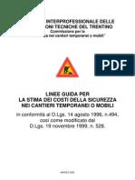 Linee Guida Per La Stima Dei Costi Della Sicurezza Nei Cantieri Temporanei O Mobili