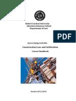 LLM Construction Law Arbitration Adjudication Handbook 2011-12 Doc