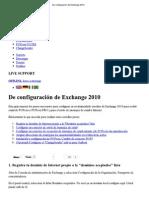 Imprimir - De configuración de Exchange 2010