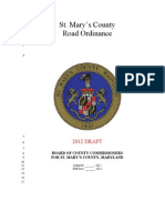 Draft 2012 Road Ordinance Update